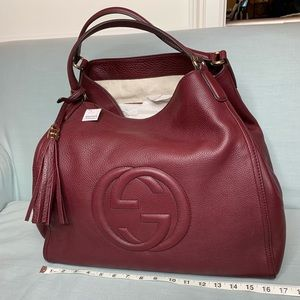 Gucci Large Soho pebble leather bag. NWT.
